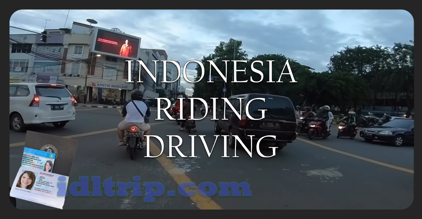Indonisia riding and driving
