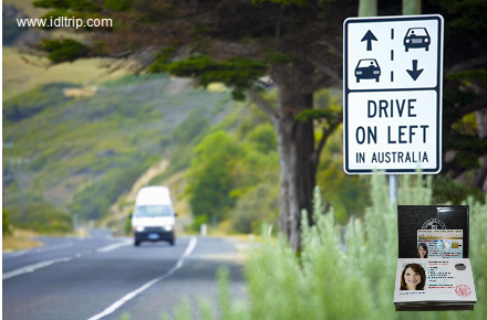 In Australia we drive on the left.